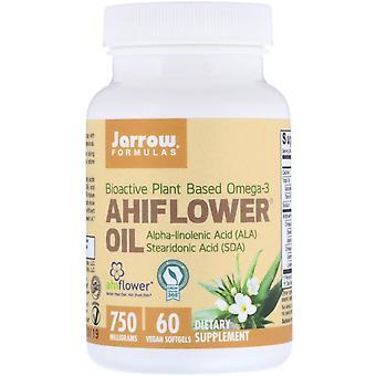 Formules Jarrow, Huile d'Ahiflower, 750 mg, 60 Softgels végétaliens