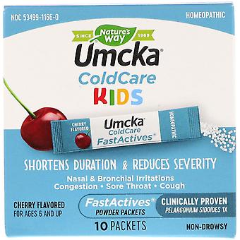 Nature's Way, Umcka, ColdCare Kids, FastActives, For Ages 6 and Up,  Cherry Flav