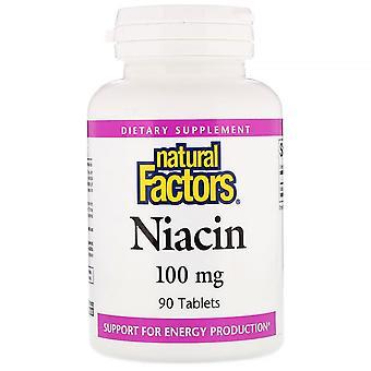 Natürliche Faktoren, Niacin, 100 mg, 90 Tabletten