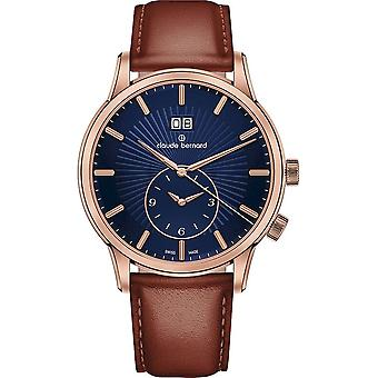 Claude Bernard - Wristwatch - Men - Jolie classique 2 time zone - 62007 37R BUIR