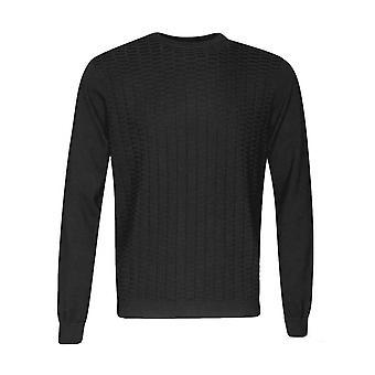 Antony Morato stickad tröja Jumper Crew Nacke Svart