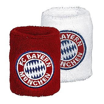 FC Bayern Munich Official Football Crest Wristbands (Pack Of 2)