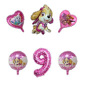 Paw Petrol Figure-foil Ballon pour l'anniversaire, Décorations de fête