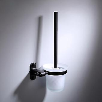 Suporte de escova de banheiro montado na parede do banheiro