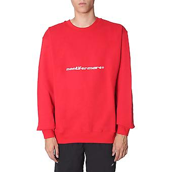 Msgm 2740mm9819579918 Men's Red Cotton Sweatshirt