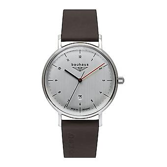 Bauhaus 2140-1 Silver Tone Dial With Date Wristwatch
