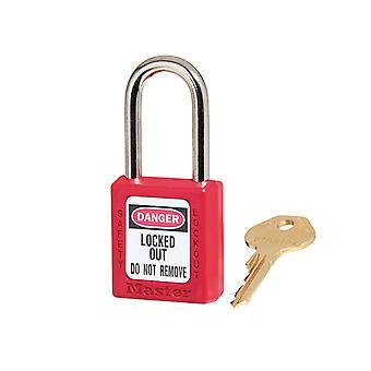 Master Lock Lockout Padlock – 38mm Body & 6mm Geharde stalen ketting MLKS410RED