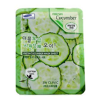 3W kliniek masker blad - verse komkommer 10st