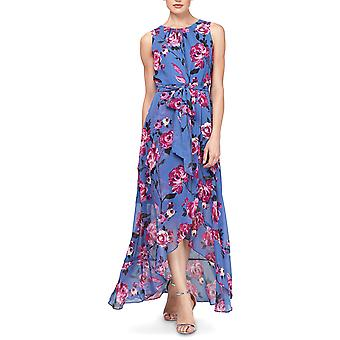 SLNY | Floral High-Low Maxi Dress