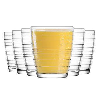Copos de tumbler de água lav apollon - 340ml - Pacote de 12 copos de mesa para refrigerantes / suco