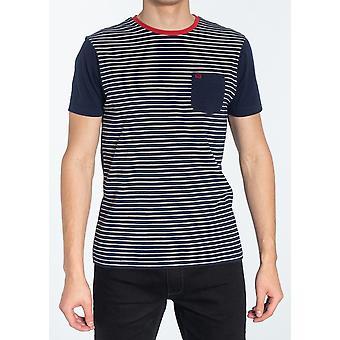 Eaton Navy & White Striped T-Shirt