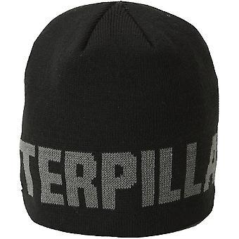 Caterpillar Mens Gardez chaud Hat Cap noir de marque