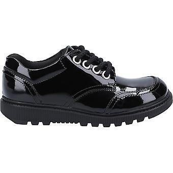 Hush Puppies Girls Kiera School Shoes Black Patent