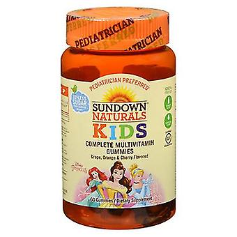 Sundown Naturals Kids Princess Complete Multivitamin Gummies Grape Orange and Cherry, 60 Each