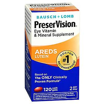 Bausch And Lomb Preservision Eye Vitamin And Mineral Supplements Lutein Softgels, 120 sgels