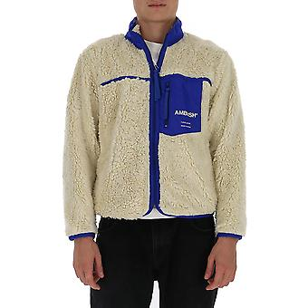 Ambush Bmea001f20fle0010200 Men's White/blue Acrylic Outerwear Jacket