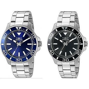 Invicta Men's 'Pro Diver' Quartz Stainless Steel Watch, Color:Silver-Toned