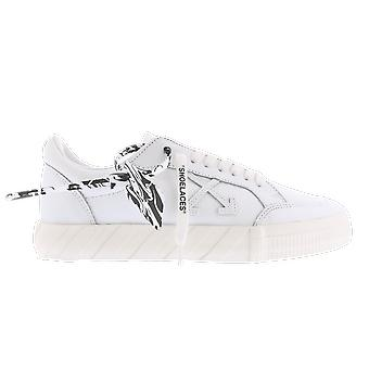 OFF WHITE Low Vulcanized Leather White OMIA085F20LEA003101 shoe