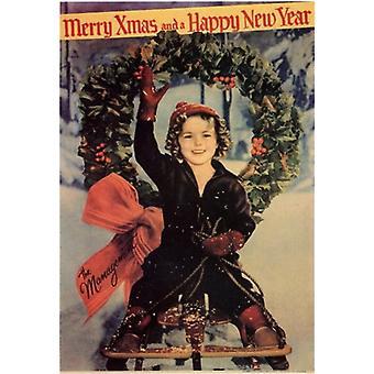 Feliz Natal e um feliz ano novo cartaz de filme (11 x 17)