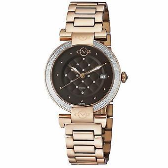 Gv2 By Gevril Women's 1502.5 Berletta Diamonds Rose-Gold IP Steel Date Watch