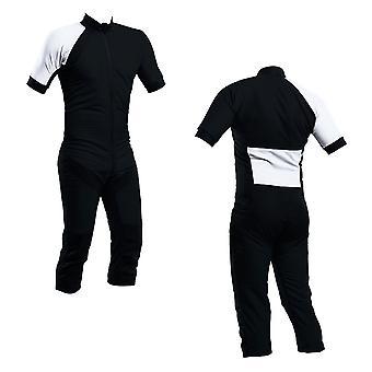 Skydiving summer suit black-white s2-03