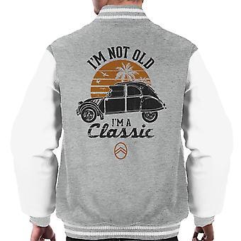 Citro?n 2CV Black I'm Not Old Classic Sunset Men's Varsity Jacket
