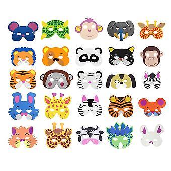Cosoro 25 gyerek eva hab állat maszkok fél táska töltőanyagok, álarcosbál, születésnapi party, karácsony, hallo
