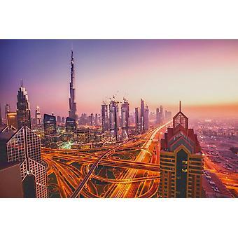 Wallpaper Mural Night Cityscape of Dubai