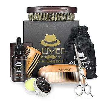 Men Beard Kit, Barba Grooming Set, Oil Moisturizing, Wax Blam, Comb Essence