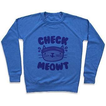 Vérifiez sweat-shirt crewneck meowt