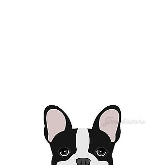 Frenchie Sticker | Frenchiestore | Black Pied French Bulldog Car Decal