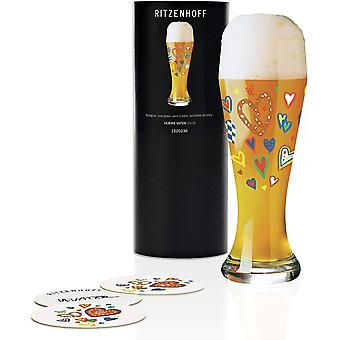Ritzenhoff Wheat Beer Glass by Ulrike Vater, 500ml Crystal Glass