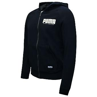 Puma Athletics Full Zip Bluza z kapturem Mężczyźni Casual Track Top Czarny 580972 51