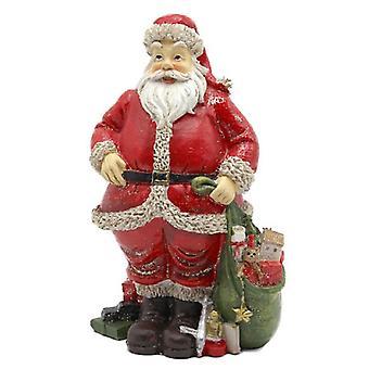 Κούκλες Σπίτι Πατέρα Χριστούγεννα με σάκο των παιχνιδιών Άγιος Βασίλης Σχήμα Μινιατούρα 1:12