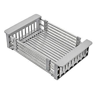 Stainless Steel Basket, Retractable Sink