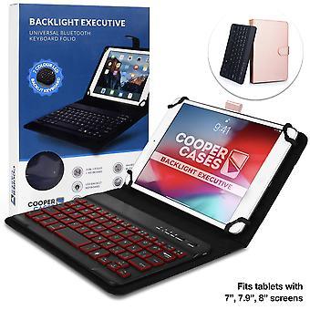 Cooper backlight executive keyboard case for 7-8 inch tablets | 2-in-1 bluetooth wireless backlit ke