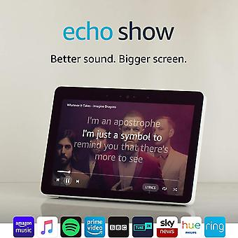 "Certified refurbished echo show (2nd gen) – premium sound and a vibrant 10"" hd screen – white"