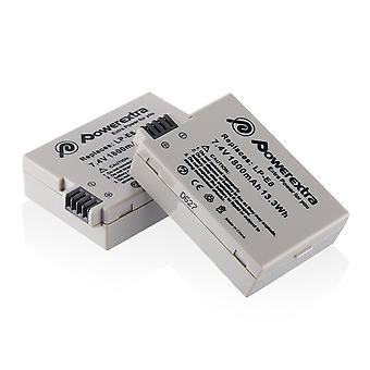 Powerextra 2 x lp-e8 replacement battery compatible with canon eos rebel t2i, t3i, t4i, t5i, eos 700