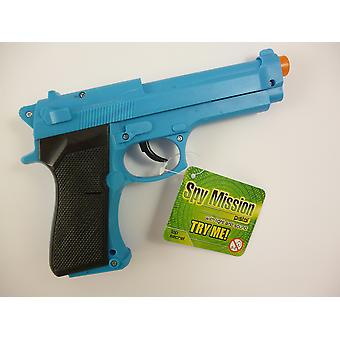 Toyland spy mission pistol with light and sound blue [colour may vary]