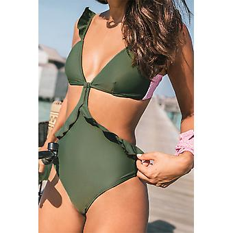Ruffle Slimming One-piece Swimsuit