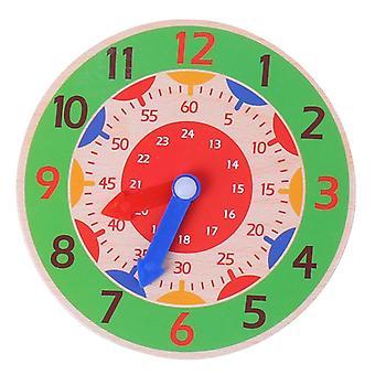 Montessori hora de madera, minuto, segundo, cognición relojes coloridos
