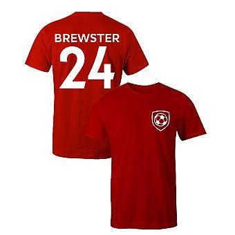ريان بروستر 24 شيفيلد يونايتد ستايل لاعب كرة القدم تي شيرت