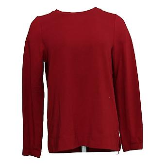 Cuddl Duds Women's Sweater Comfortwear Crew Neck Pullover Red A381597