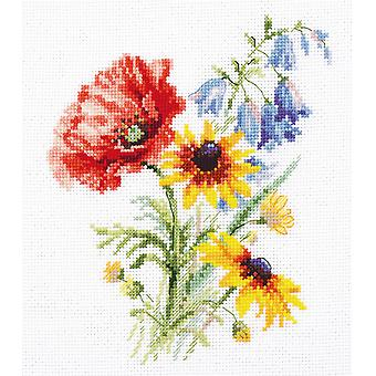 Alisa Cross Stitch Kit - Bouquet With Poppy