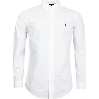 Polo Ralph Lauren langermet bomull poplin skjorte