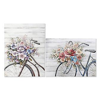 Malarstwo Dekodonia Akrylowe Drewno Shabby Chic Canvas Rower (2 szt)Painting Dekodonia Acrylic Wood Shabby Chic Canvas Bicycle (2 szt)