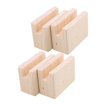 4pcs Móveis de Madeira Riser Elevador de cama 2CM Sulco 5CM Altura do elevador