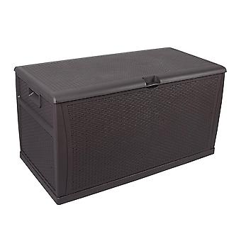 Impermeável ao ar livre bloqueável marrom armazenamento Chest caixa unidade-almofadas brinquedos ferramentas