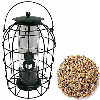1 x Simply Direct Squirrel Resistant Guard Seed Feeder with 12.75KG Bag of Mixed Seed Wild Bird Feed