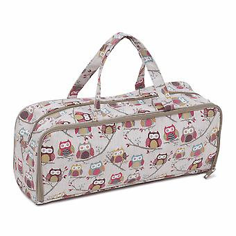 Hobby Gift Knitting Bag with Pin Case: Hoot